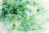 Green watercolor blotch — Stock Photo