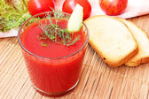 Fresh yummy tomato juice — Stock Photo