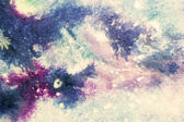 Beautiful abstract blue and purple watercolor smudges with white splatter — Stock Photo