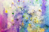 Background with colorful watercolor splatter — Stok fotoğraf