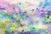 Watercolor background with colorful smudges — Stock Photo
