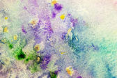 Watercolor background with colorful spots — Stock Photo