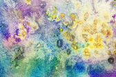 Beautiful watercolor background with colorful splatter — Stock Photo