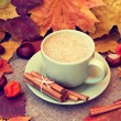 Cup of tasty cappuccino — Stockfoto #33870833