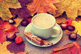 Cup of tasty cappuccino — Stock Photo