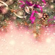 Christmas sparkling pink background — Stock Photo
