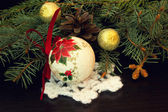 Old vintage christmas ball — Stock Photo