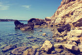 Rocky beach, Crete, Greece — Stock Photo