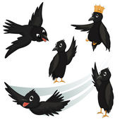 Crows Vector Illustrations — Stock Vector