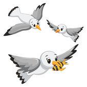 Seagulls Vector Illustrations — Stock Vector