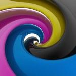CMYK palette paint — Stock Photo