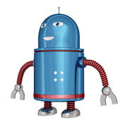 Funny robot — Stock Photo