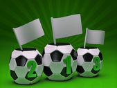 Green soccer podium — Stock Photo