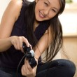 Asian woman having fun - Stock Photo