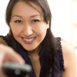 Asian woman having fun — Stock Photo #12189687