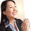 Asian woman with cold — Stock Photo
