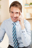 Attractive Caucasian male business executive. — Stock Photo