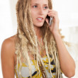 Stunning white woman with dreadlocks — Stock Photo #12427100