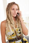 Stunning white woman with dreadlocks — Stock Photo