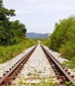 Railway on field — Stock Photo