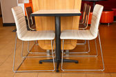 Colors with chair table — Stockfoto