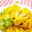 Chicken biryani with spices — Photo
