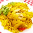 Chicken biryani with spices - Stock Photo