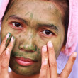 Spa Mud Mask on the woman — Stock Photo