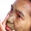 Spa Mud Mask on the woman — Stock Photo #13286896