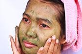 Lázně bahenní maska na ženu — Stock fotografie