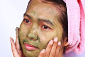 Spa Mud Mask on the woman — Stockfoto