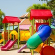 Colourful children playground equipment — Stock Photo