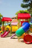 Sprzęt do ogrodków jordanowskich kolorowe dzieci — Zdjęcie stockowe