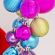 Christmas concept with baubles on white — Stock Photo #14894421