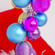 Christmas concept with baubles on white — Stock Photo #14895241