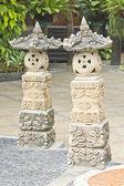Statua di pietra arenaria al parco storico di chonburi — Foto Stock