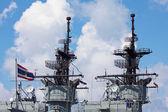 Observe of Thai battleship, Sattahip — Stock Photo