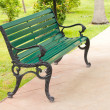 Garden chair in beautiful garden — Foto de Stock