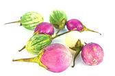 Thai Eggplant on white background — Stock Photo