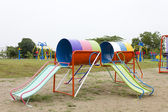 A colourful children playground equipment. — Stock Photo