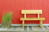 Beautiful metal garden chair — Stock Photo
