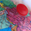 Asia on a map — Stock Photo