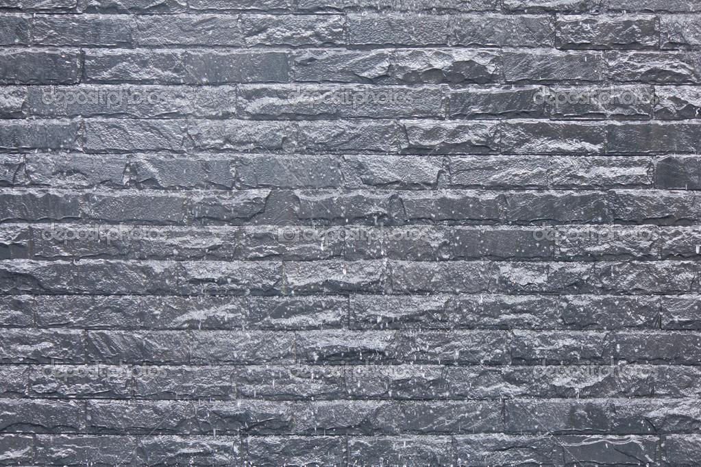dunkle stein fliesen wand textur aufgetaucht stockfoto. Black Bedroom Furniture Sets. Home Design Ideas