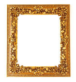 Old antique golden frame isolated on white background — Stock Photo