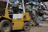 Forklift and steel Scrap — Photo