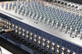 Sound mixer, low angle shot with shallow DOF, useful for various — Stock Photo