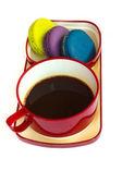 Rojo taza de café aislado sobre fondo blanco — Foto de Stock