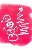 Christmas greetings, spray painted — 图库照片