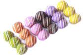Çeşitli renkli bebek börekler — Stok fotoğraf