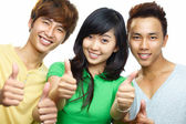 Successful students — Stock Photo